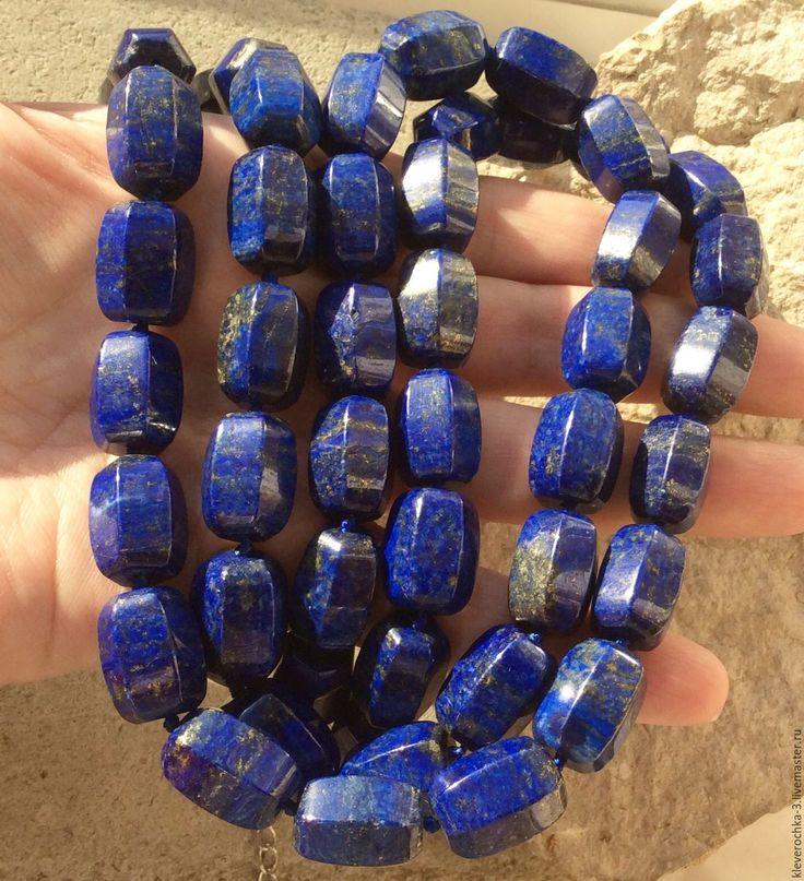 Купить Лазурит 18 мм бочонок огранка бусины камни для украшений - камни бусины лазурит