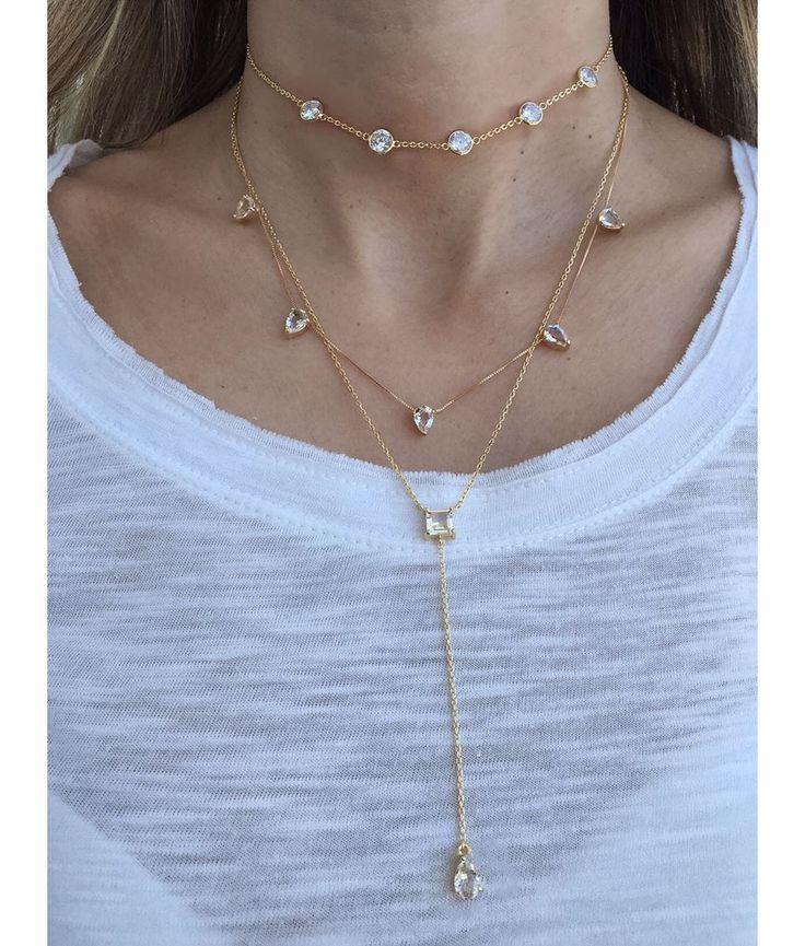colar da moda com chokers-douradas semi joias online da moda