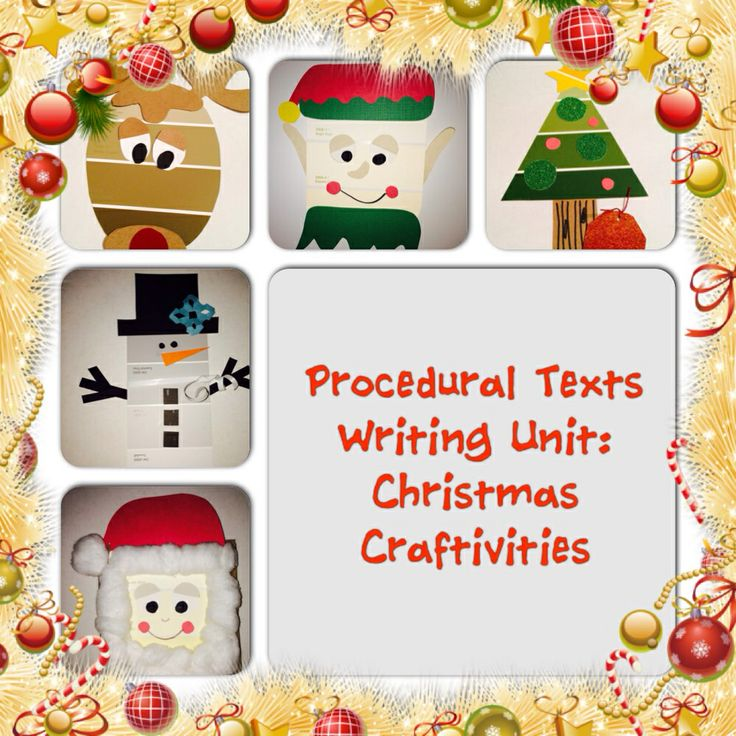 Students will love learning about procedural writing using a Christmas theme. $