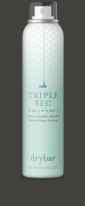 Add dry texture to any hair style, great for curls and beauty waves, also protects against humidity for those summer nights: Triple Sec