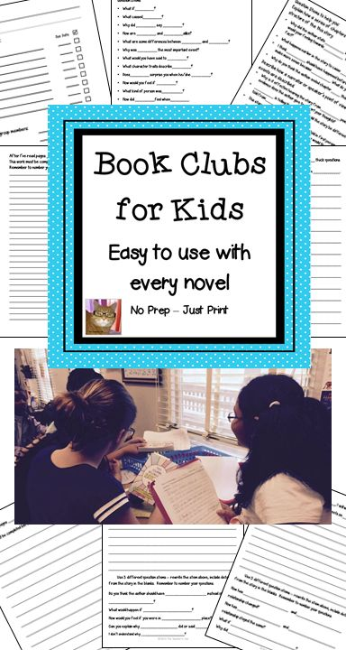Book Clubs for Kids! - My fifth grade students love book club! The reason they love book club – they get to read and talk about the books they love. I've learned through many years of trial and error if you give a student a packet loaded with comprehension questions or even open ended essay type questions the student will only read to find answers. The best way to get kids to REALLY read is to have them write their own questions. This format is easy for the teacher and fun for the students.