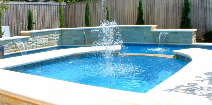 Wall Fountains Outdoor Pool with Floating
