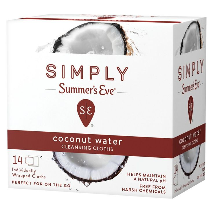 Simply Summer's Eve Coconut Water Feminine Wipe - 14ct, None - Dnu