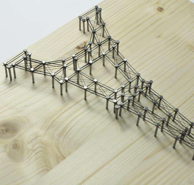 3D Architectural Wall Art : Eiffel Tower Picture