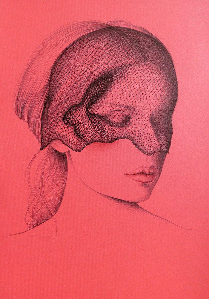 SOUL CONFESSIONS, 2015 Pen on satin fluorescent pink paper 29 x 21 cm