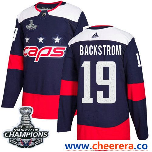 4501bf110 ... where to buy adidas washington capitals 19 nicklas backstrom navy  authentic 2018 stadium series stanley cup ...