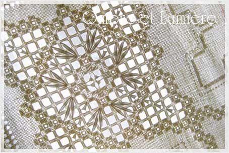 Hardanger Embroidery ハーダンガー刺繍