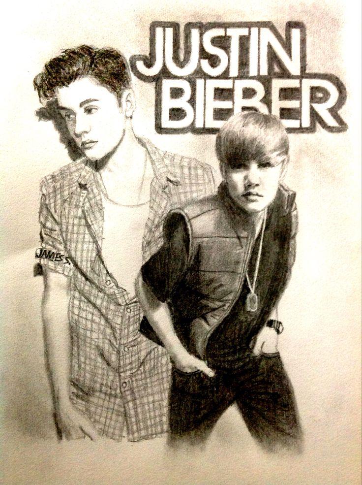 Celebrity Sketch of Justin Bieber