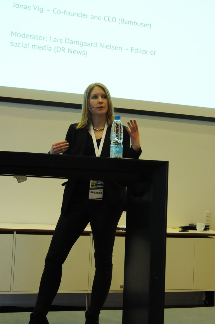 Social Media Week Copenhagen -Social Media in the newsroom in 2013. Hosted by DR NYHEDER at DR Byen. Photo by Veronica Skotte
