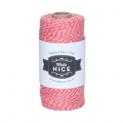 1 Spool (aprox 100metres) Red and Pink 100% cotton Bakers Twine - Included in our Deluxe packs only