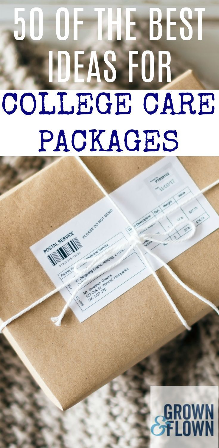 If you're looking for the best ideas to send in a college care package for your kid, this list of 50 of the best ideas for college care packages is one you don't want to miss out on. #collegelife #dormlife #dormideas #collegeideas #carepackage #giftideas #collegetips