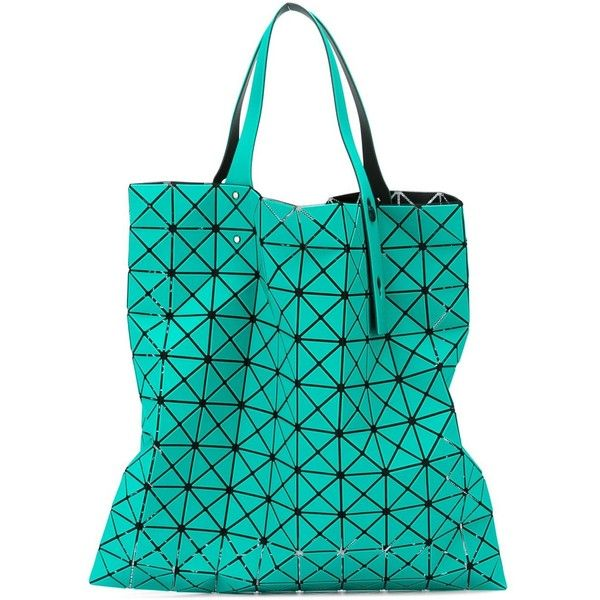 Bao Bao Issey Miyake Prism-1 Tote (£390) ❤ liked on Polyvore featuring bags, handbags, tote bags, blue, turquoise tote, blue purse, blue handbags, blue tote bag and turquoise purse