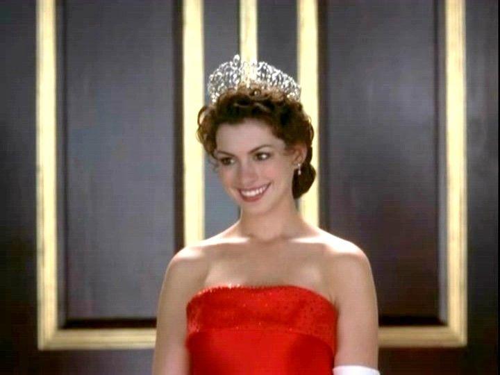 Princess diaries 2 red dress gold