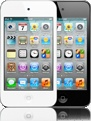 Apple - iPod touch - Now in white. It has fun written all over it.