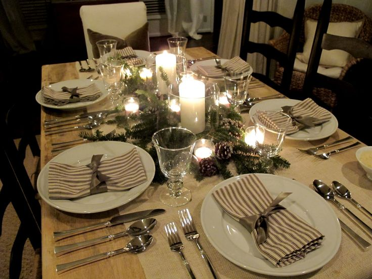 Christmas Ideas For Dinner Party Part - 41: Table Setting Ideas For Dinner Party Tuscan Pasta Party Easy Holiday  Entertaining Dinner Party Ideas