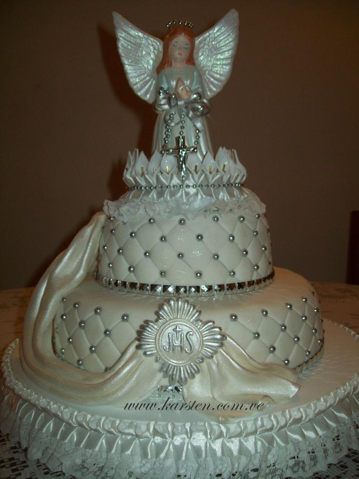 Torta de Bautizo: Bolo Artistico, Torta Comunión, First Communion, Pastel De Bautizo, Cakes Comunione, Bolos Artisticos, Torta Primera, Pastel De Primera Comunion, Tortas Comunión