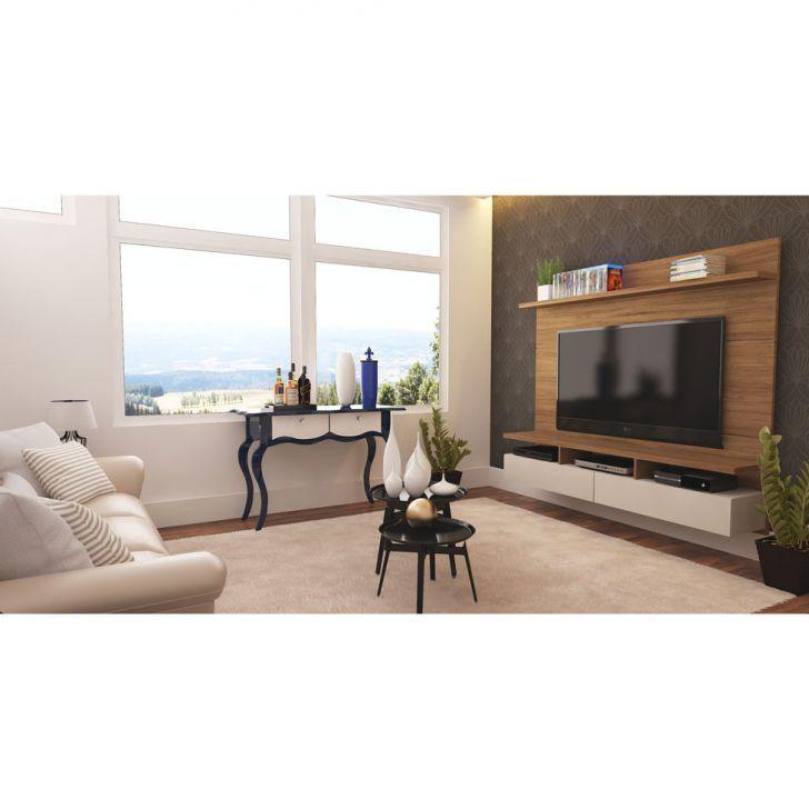 Painel para Tv Zeus 1.8 Natural e Off-White