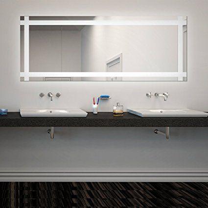 Luxury Viola LED Badspiegel mit Beleuchtung B cm x H