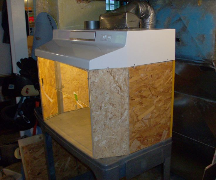 Building a small fume hood for soldering projects