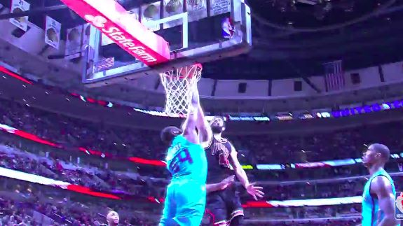 Nikola Mirotic had this monster jam on veteran big man Jason Maxiell that will be sold in the United Center gift shop in the near future.