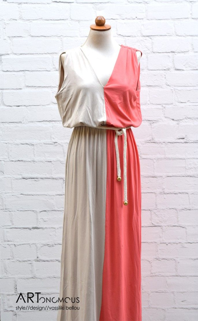 Grecian style maxi dress - ARTonomous // Style // Design