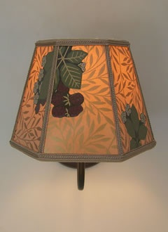 A great lampshade made with Bradbury wallpapers by Sue Johnson! #bradburywallpaper
