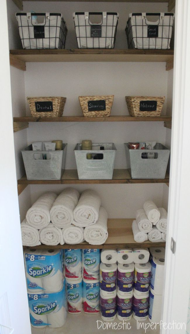 Linen Closet Organization (and The End Of My Pink Walls!)