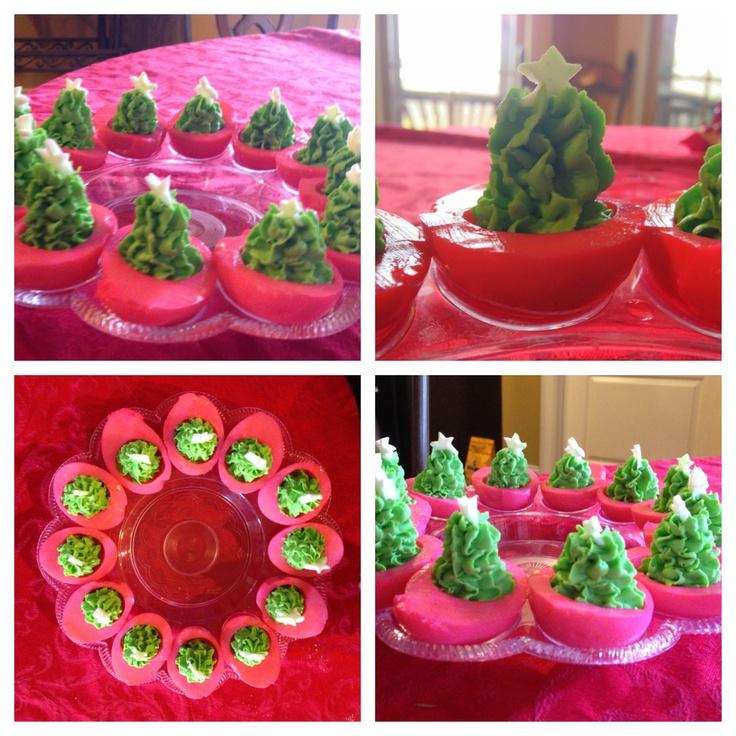 Christmas Tree Deviled Eggs So Cute Christmas