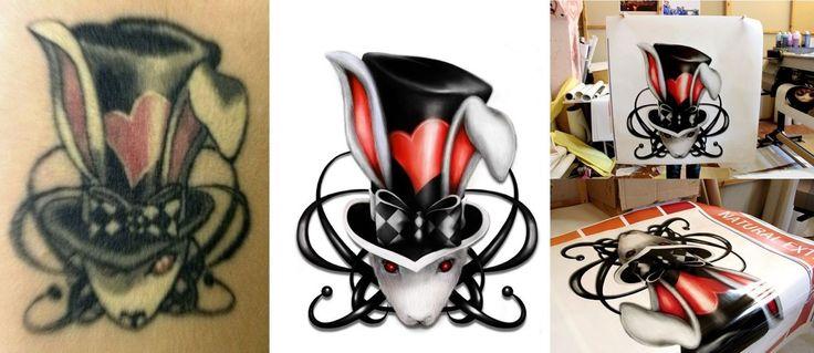 восстановление изображения с татуировки