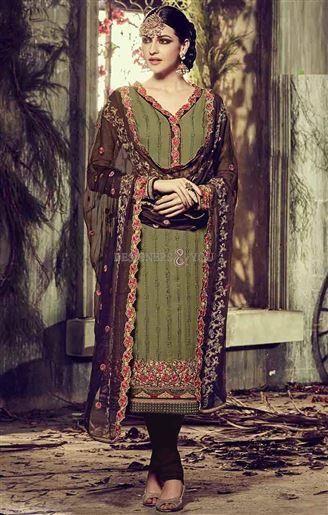 Pakistani Boutique Suits With Work At V Neck And Border At Low Price Visit: http://www.designersandyou.com/dresses/pakistani-dresses #PakistaniTrends #Pakistani Wear #Pakistani Fashion #Good Looking #Latest #Designer #Colorful #Pakistani Latset #Trendy #Dress #Vogue