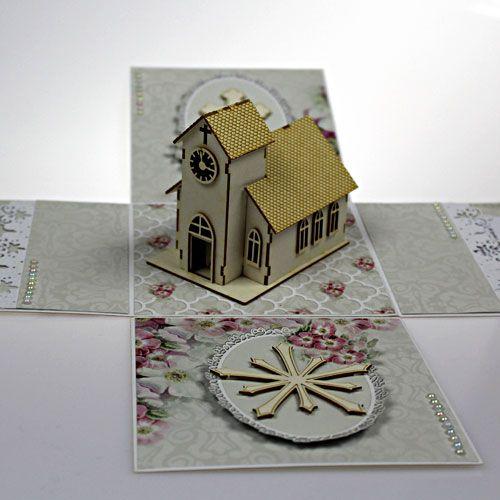 Exploding box na ślub - ręcznie wykonane życzenia dla młodej pary.