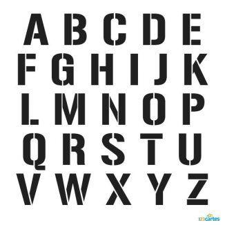 pochoir alphabet complet gratuit à imprimer