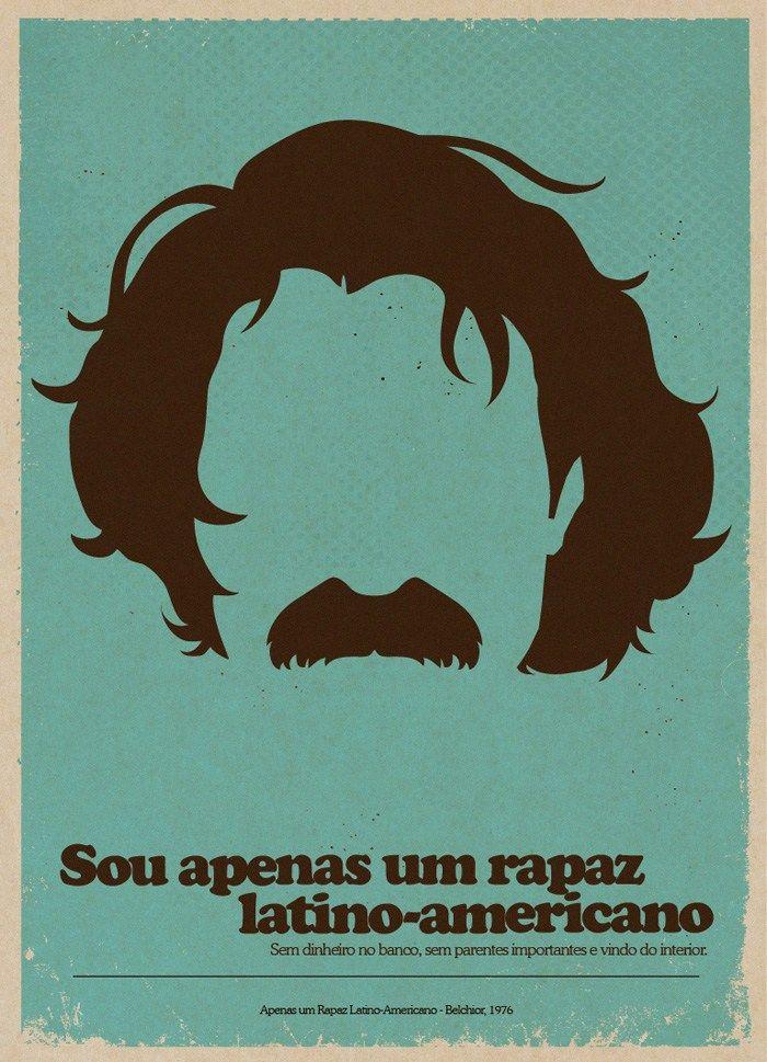 Clássicos Brasileiros Em Cartazes Minimalistas Frases Belchior Quadros Musica Ilustração Minimalista