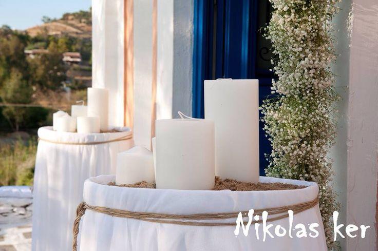 Λαμπάδες γάμου μανουάλια Μ&Μ @Tzia! www.nikolas-ker.gr