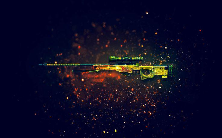 AWP Dragon Lore Sniper Rifle Counter Strike Global Offensive Weapon Skin 1920x1200