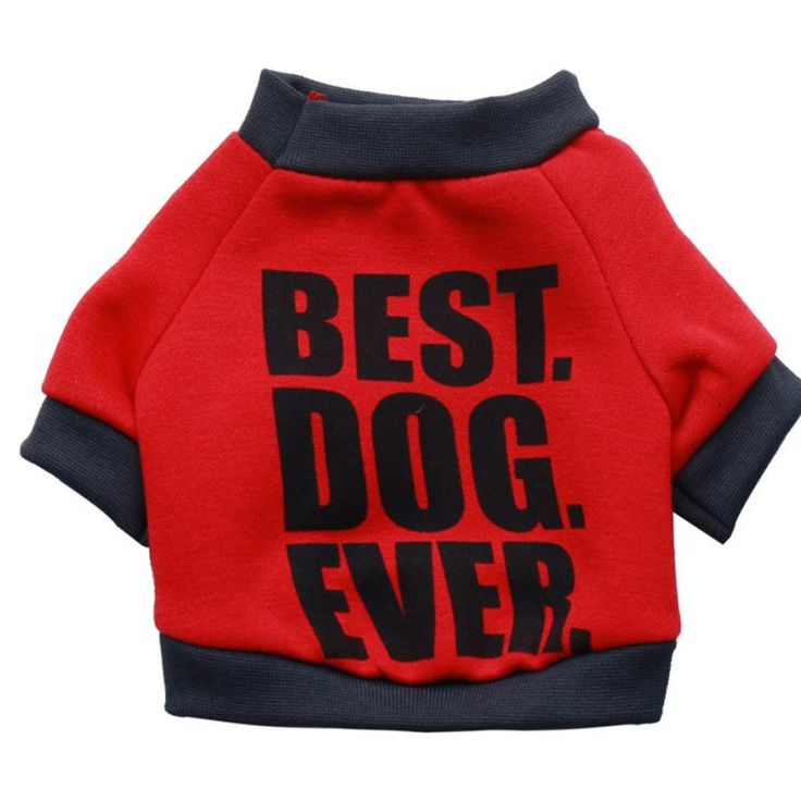 Pet Dog Puppy Funny Letters Fleece Shirt Apparel Warm Clothes ropa para perros chihuahua de invierno Winter overalls for dogs