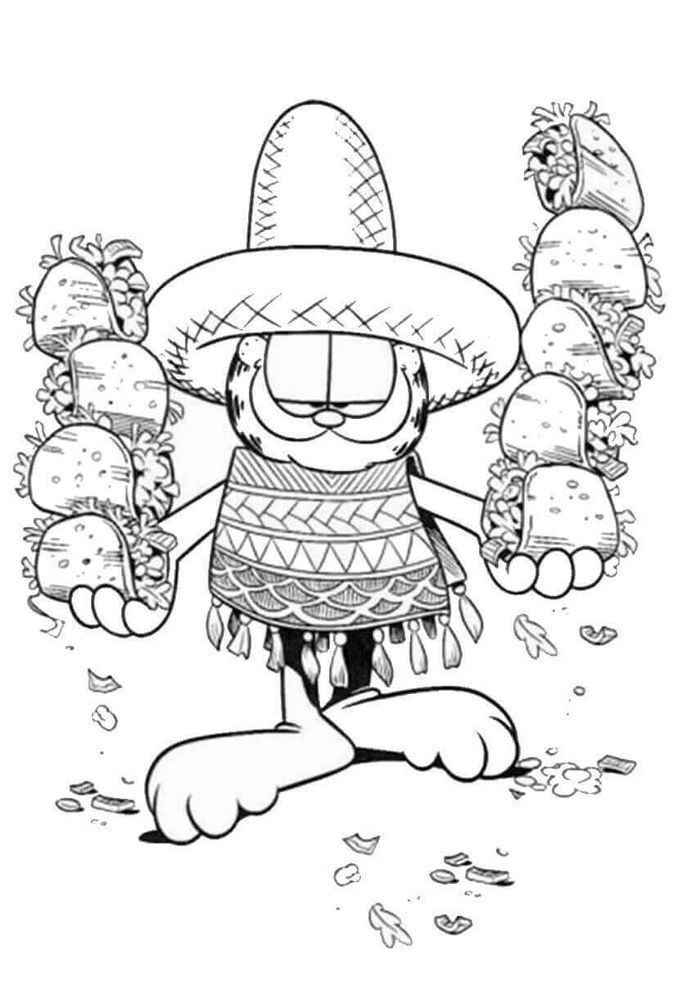 Mlg Garfield Coloring Pages In 2020 Food Coloring Pages Free Coloring Pictures Cartoon Coloring Pages