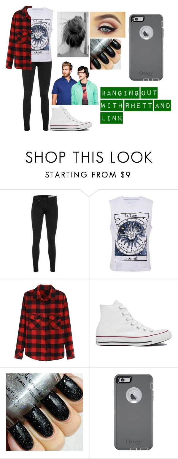 """""""Rhett and Link"""" by marvelteen14 ❤ liked on Polyvore featuring rag & bone, Converse, OtterBox, women's clothing, women, female, woman, misses and juniors"""