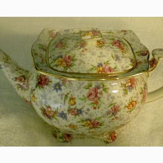 Royal Winton rare Athena shape Eleanor large teapot
