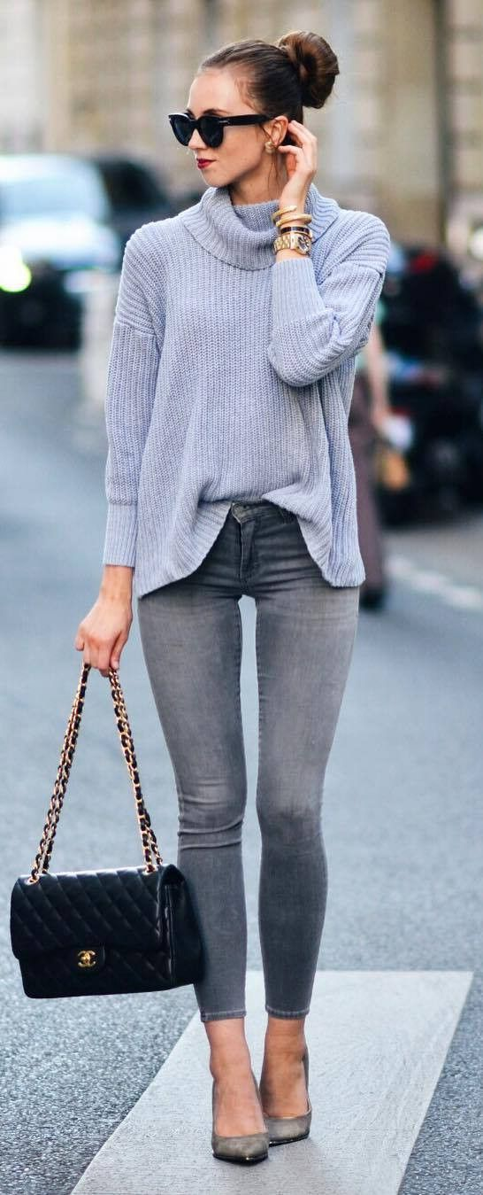 cute outfit of the day top + bag + skinnies