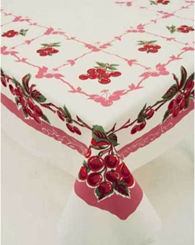 73 best reproduction tablecloths images on pinterest table covers moda vintage style tablecloth cherry cherries 52 x 65 workwithnaturefo