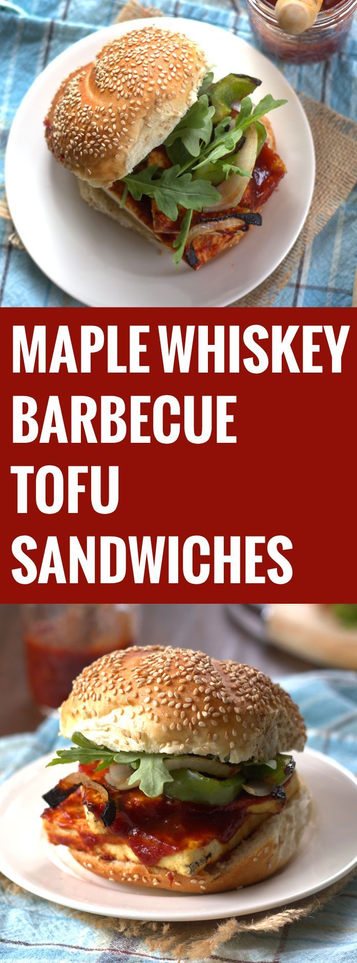 Maple Whiskey Barbecue Tofu Sandwiches
