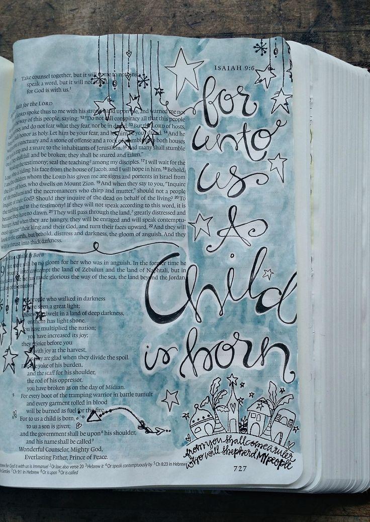 Bible Art || Isaiah 9:6 °° Sue Carroll