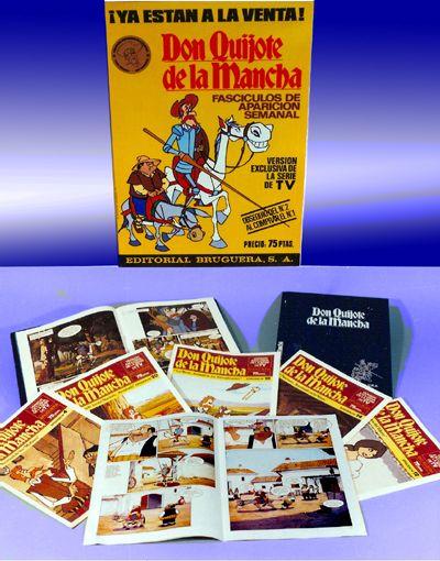 Colección de 40 fascículos semanales de la serie DON QUIJOTE DE LA MANCHA (1979) Editorial Bruguera. Hoy los podéis conseguir y descargar en PDF aquí http://www.quijote.tv/comic1.htm