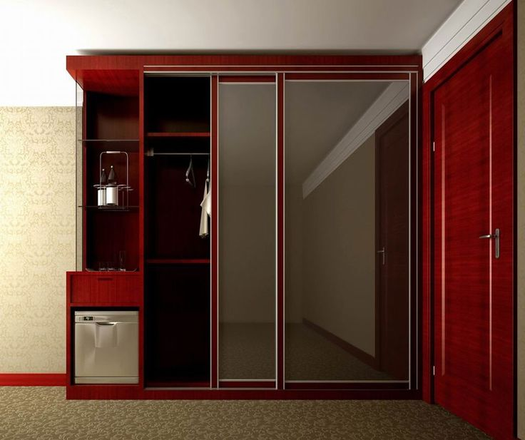 Bedroom Cupboard Designs With Mirror Loft Bedroom Lighting Ideas Small Bedroom Wall Decor Bedroom Decorating Ideas In Grey: Furniture: Charming Red Wooden Wardrobe Armoire With