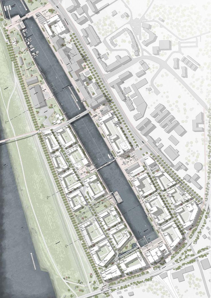 Kanaal met zwembad en waterval voor Keulen - PhotoID #404132