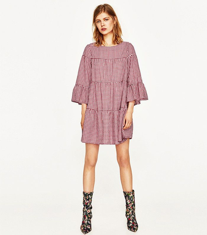 Zara Gingham Mini Dress ($50) This is the 2017 way to wear gingham.  This Zara-Endorsed Feminine Trend Will Be Everywhere in 3 Months via @WhoWhatWear