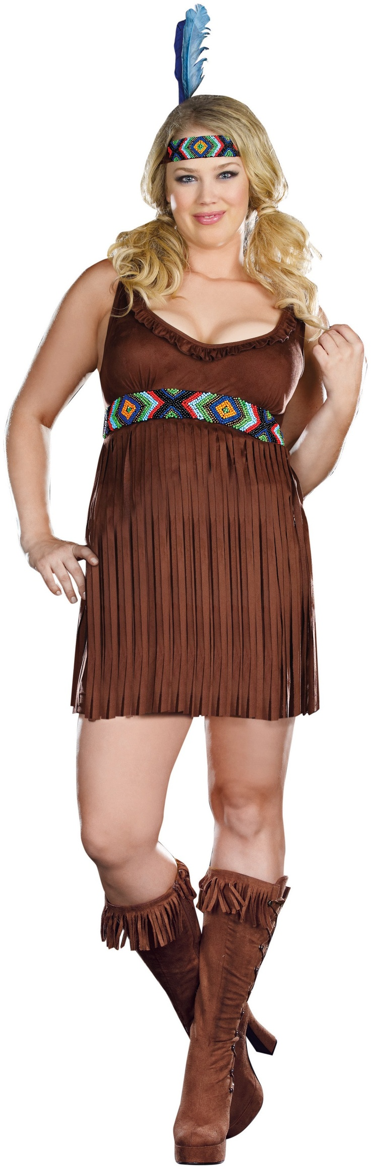 Tribal Trouble Adult Plus Costume - 1X/2/X