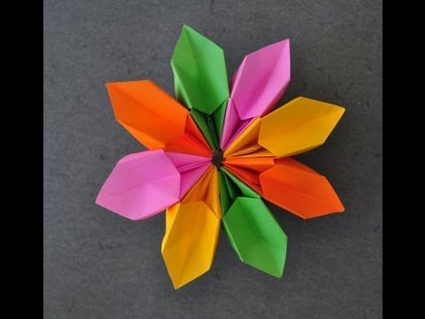 Origami - How to fold a Magic Flower - YouTube