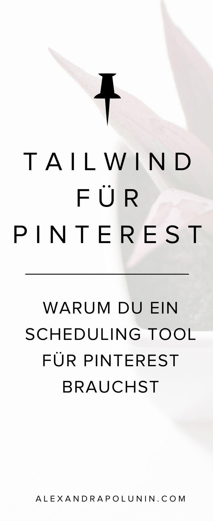 Tailwind für Pinterest – lohnt sich das Planungstool? Planst du deine Pins bereits mit einem Scheduling Tool? Hier verrate ich dir, warum das eine gute Idee ist. #pinterestmarketing #tailwind #tailwindapp #schedulingtool #produktivität